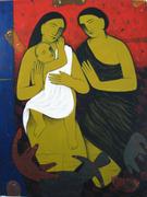 Birth Day Boy Acrylic on Canvas 36''x48''