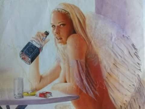 Angel with Bourbon and Cigarettes