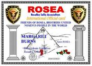 Rosea Internation Card Certificate