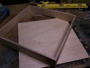 drawer sides put together, bottom waiting