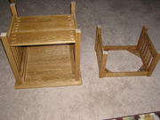 4 End table & foot stool bottoms up