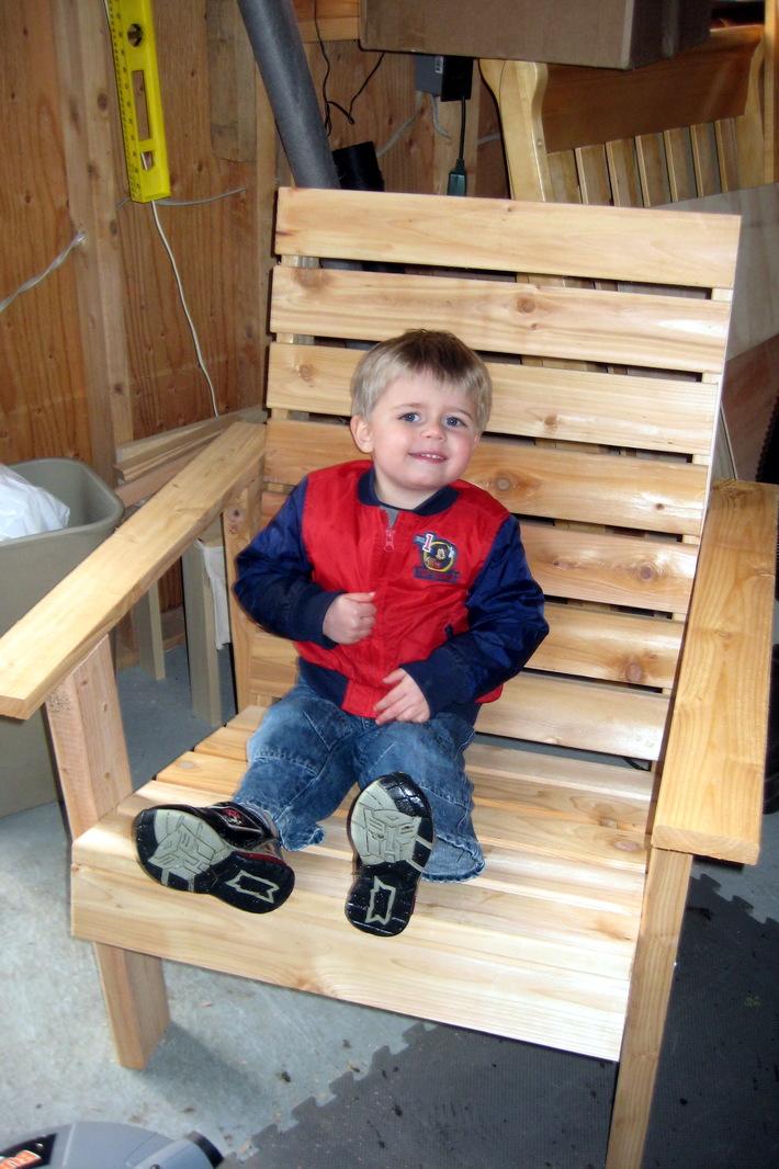 Completed cedar chair