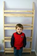 Wall magazine/book rack