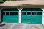 The new garage doors