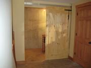 sliding barn door/ wine cellar door
