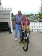 Nina, Grandson Austin and Birthday bike, & kenny