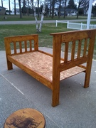 Twin Bed stained in Fruit Wood