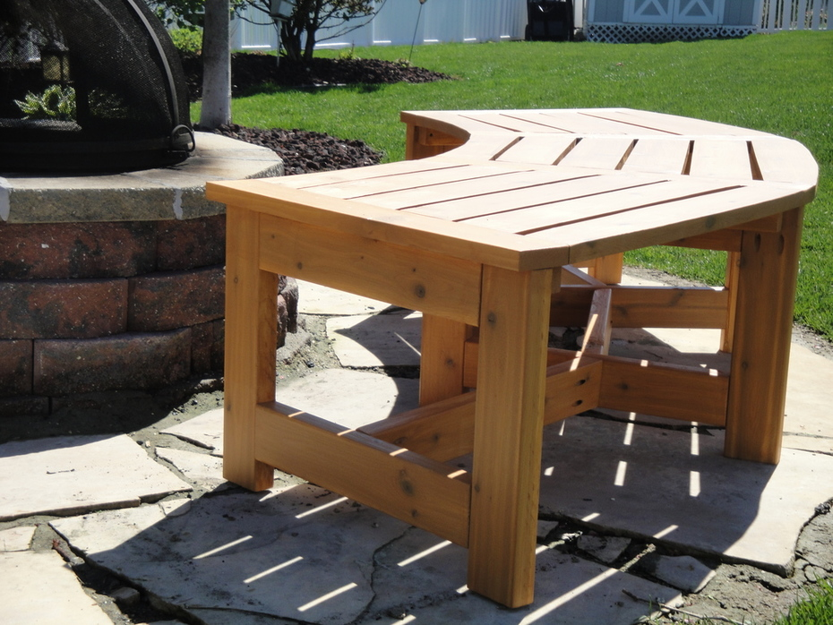 Curved Firepit Bench