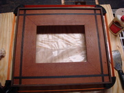 leopard wood wenge inlay pic frame
