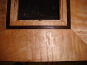 close up tiger maple wenge inlay pic frame