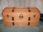 oak and walnut chest