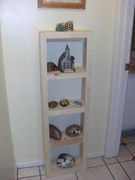 Shelf for my painted rocks. Pattern of Kreg bookshelf. I changed the size.