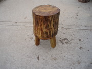 chop-block stump with legs
