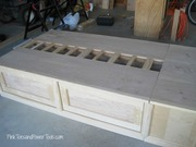 End drawers--twin storage bed