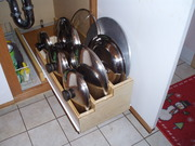 pan lid storage pull-out tray