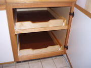 cabinet base with pull-out trays