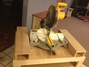 Shop Cart with miter saw insert