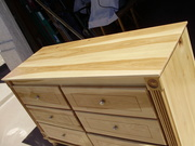 Hickory 6 drawer dresser