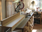 Miter saw station with micro adjustments