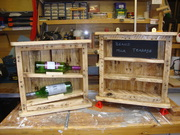 Recycled pallett cabinet.