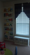 Window Seat and Book Display Left