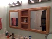 Bathroom double medicine cabinet