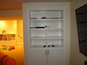 built in bookcase / media center