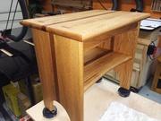 Oak & mahogany bench