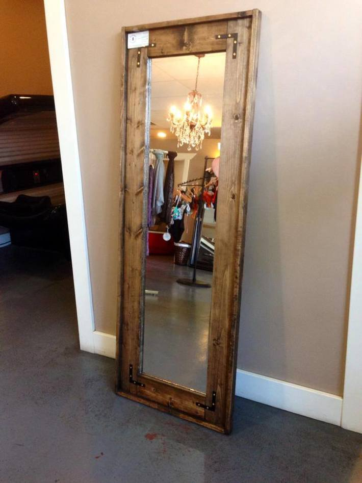 Rustic full length mirror
