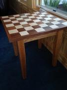 Mahogany & Maple Chess Table