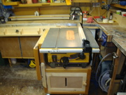 Table saw cart.