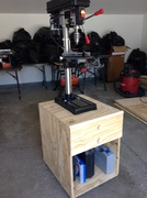 Drill press stand with drawers