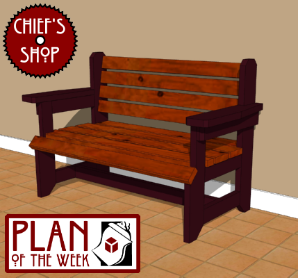 Chief's Shop Plan of the Week: Rustic Foyer Bench