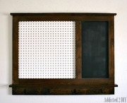 Pegboard Organizer with Magnetic Chalkboard