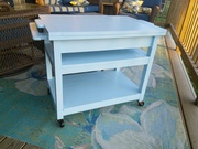 Serving Cart with Cooler insert.