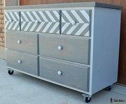 7 Drawer Dresser With Chevron Top