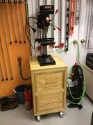 Drill press rolling cart