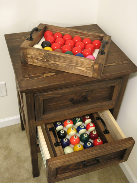 Snooker and Pool Ball Cabinet