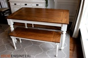 Elegant Oak Farmhouse Table
