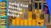 Woodturning Lathe Tool Storage SOLVED | Easy Woodworking Project with YouTube tutorial