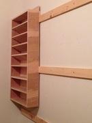 Pocket hole finishing shelf