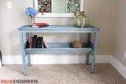 Book Rack Console Table