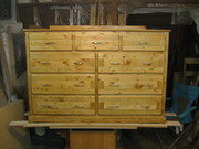 9 Drawer Dresser out of Pellet Wood