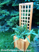 Planter With Trellis