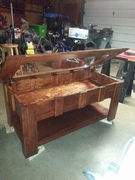 Shadow Box Coffee Table with top open