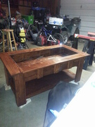Finished table - with glass