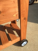 Cooler Stand w/ Side Table & Wine Bottle Storage