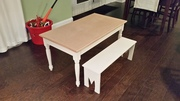 Kids craft table and bench