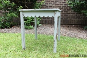 Simple Scalloped Side Table