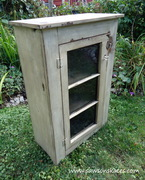 Repurposed Basement Window Cabinet